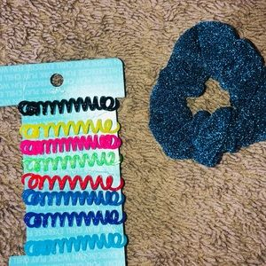 Accessories - Coil Hair Ties with Scrunchie